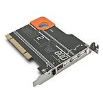 LaCie carte PCI by Sismo (3x USB 2.0 + 1x FireWire 800 + 1x FireWire 400)