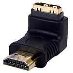 Adaptateur HDMI mâle / HDMI femelle (coudé 90°, plaqué or)