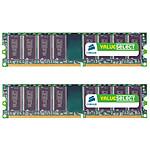 Corsair Value Select 4 Go (2x 2 Go) DDR2 800 MHz CL5
