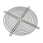 Rejilla de protección para ventilador de 200 mm