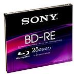 Sony BD-RE 25 Go certifié 2x (à l'unité, boitier crystal)