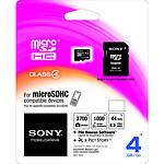 Sony microSD HC 4 Go