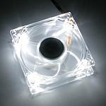 Xigmatek Crystal Series 80 mm LED Blanche