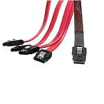 Câble miniSAS (SFF-8087) vers 4x SATA - 0.5 m