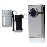 Flip Video Mino HD chrome + Pack de 2 pochettes souples