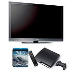 "Sony BRAVIA KDL-40EX600 + Playstation 3 Slim + télécommande + Film ""2012"""