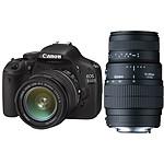 Canon EOS 550D + Objectif EF-S 18-55mm IS + SIGMA 70-300mm F4-5,6 Macro Super II
