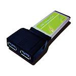 Carte contrôleur ExpressCard avec 2 ports USB 3.0