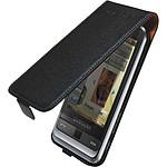 Samsung étui en cuir coloris noir (pour Samsung Player Light C3510)