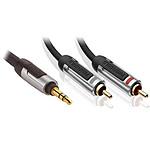 Profigold PROA3403 - Jack 3.5 mm vers 2x RCA Audio stéréo - 3 m