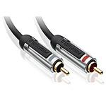 Profigold PROA4203 - Câble audio stéréo 2x RCA mâle/mâle - 3 m