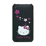 Hello Kitty - Coque Arrière pour iPhone 3G / 3GS (coloris noir)