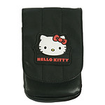 Hello Kitty - Pouch nylon avec rabbat (coloris noir)