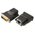 Émetteur + récepteur DVI-D sur réseau Ethernet (RJ45)
