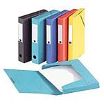 Exacompta boîte de classement EXABOX en carte lustrée Nature Future - Dos de 40mm - 24x32cm pour A4 Vert