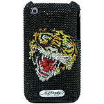 """Ed Hardy - Crystal Faceplate iPhone 3G """"Tiger"""""""
