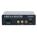 Splitter Audio/Vidéo RCA 4 ports