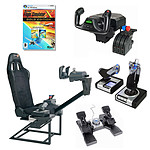 Playseats FlightSeat  + Saitek PZ44 + Saitek PZ35 + Saitek X52 + Jeu Flight Simulator X - Edition Gold