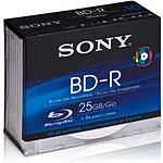Sony BD-R 25 Go 6x (boite slim de 5)