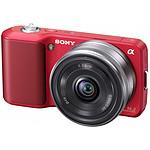 Sony NEX-3 Rouge + Objectif 16 mm