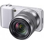 Sony NEX-5 Argent + Objectif 18-55 mm