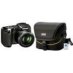 Nikon Coolpix L110 Noir + Etui Nikon CS-P03 + Carte SD 4 Go