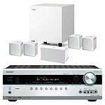 Onkyo TX-SR508 Argent + Jamo A 102 HCS 6 Blanc