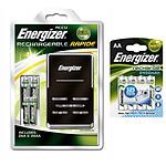 Energizer Chargeur + 2x AA 2500 mAh + 2x AAA 1000 mAh et 4x AA 2450 mAh offertes