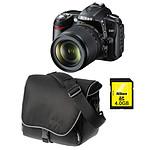 Nikon D90 + Objectif AF-S DX Nikkor 18-105mm f/3.5-5.6G ED VR + Sacoche CF-EU04 + Carte SDHC 4 Go