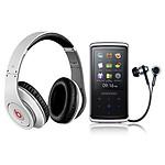 Monster Cable Beats by Dr .Dre Studio Blanc + Samsung YP-Q2 4 Go Noir