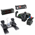 Saitek Pro Flight Private Pilot: Yoke System + Rudder Pedals + Radio Panel + Switch Panel