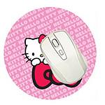 Bluestork Mouse Air Blanc + Tapis Hello Kitty