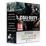 Microsoft Carte Xbox LIVE Gold 12 mois édition Call of Duty Black Ops