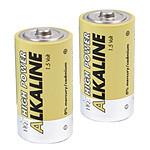Piles alcalines LR20 - D - 1.5V (par 2)