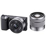 Sony NEX-5 Noir + Objectif 16 mm + Objectif 18-55 mm
