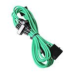 BitFenix Alchemy Green - Câble d'alimentation gainé - Molex vers 4x SATA - 20 cm