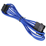 BitFenix Alchemy Blue - Extension d'alimentation gainée - Molex vers Molex - 45 cm