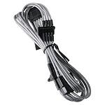BitFenix Alchemy Silver - Câble d'alimentation gainé - Molex vers 4x SATA - 20 cm