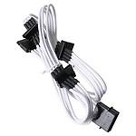 BitFenix Alchemy White - Câble d'alimentation gainé - Molex vers 4x SATA - 20 cm