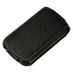 xqisit Etui FlipCase en cuir Noir pour BlackBerry 97XX