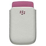 BlackBerry Leather Pocket Blanc / Rose