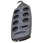 Belkin PureAV - Bloc parafoudre pour home cinema (7 prises secteur + 2 prises téléphone + 1 prise antenne)