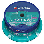 Verbatim DVD-RW 4.7 GB certificado 4x (pack de 25, spindle)
