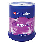 Verbatim DVD+R 4.7 GB certificado 16x (pack de 100, spindle)