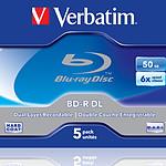Verbatim BD-R DL 50 GB certificado 6x, pack de 5
