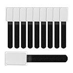 Label The Cable LTC Mini - Kit 10 mini-attaches Velcro à étiquettes (Noir)