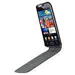 Samsung Etui en cuir Noir à rabat pour Galaxy S II i9100