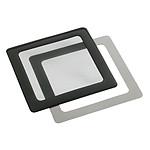 Filtre à poussière magnétique carré 120 mm (cadre noir, filtre noir)