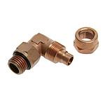 """Connecteur 1/4"""" 13/10 mm coudé 90° (coloris cuivre)"""