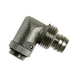 """Connecteur 1/4"""" 13/10 mm compact coudé 90° (coloris noir)"""